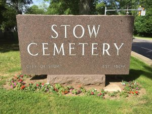 Stow Cemetery Sign